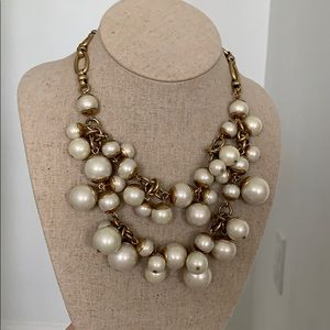 Stella & Dot oversized pearl statement necklace
